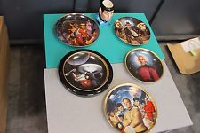 Lot of Star Wars/Star Trek/Indiana Jones Collectible Plates and Mug (Spock)