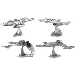 Metal Earth Star Trek Metal Models, Set of 4