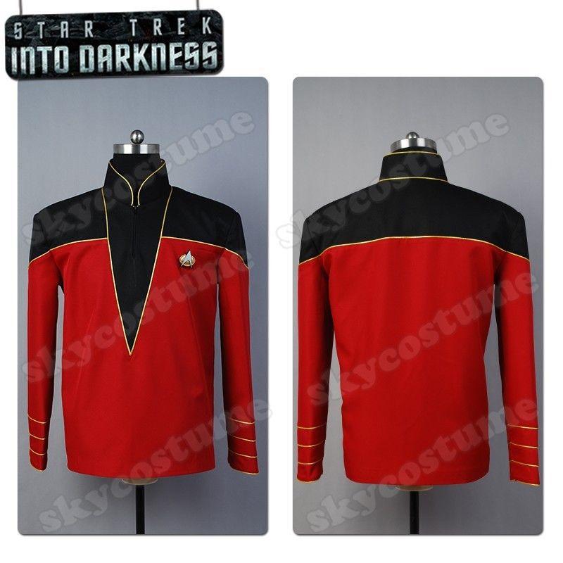 Star Trek Into Darkness Admiral Officer Uniform Cosplay Costume Jacket Red Coat
