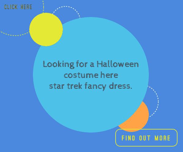 Looking for a Halloween costume here star trek fancy dress.