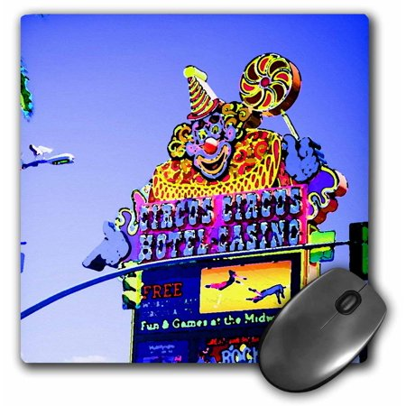 3dRose A Painted-look Circus sign in Las Vegas, Nevada on The strip, Mouse Pad, 8 by 8 inches