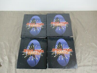 4 Books Of Star Trek Universe Binders With 100's Of Cards From 1997