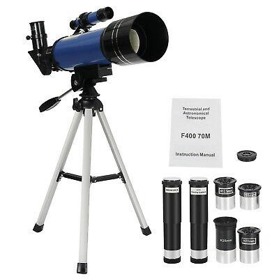 400x70mm Astronomical Travel Telescope Monocular Space Optical Glass Quick Setup