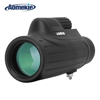 AOMEKIE 10X42 Monocular BAK4 FMC Optical Glass Lens High Power Hunting Camping Telescope Compact Spotting Scope Waterproof