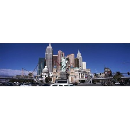 Buildings in a city New York New York Hotel The Las Vegas Strip Las Vegas Nevada USA Canvas Art - Panoramic Images (36 x 12)