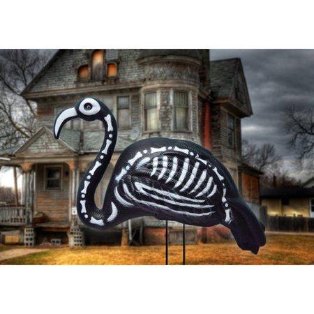 Halloween Skeleton Flamingo Yard Stake