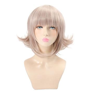 HSIU Super DanganRonpa Cosplay Wig Chiaki Nanami Costume Play Woman Adult Wigs Halloween Anime Game Hair free shipping