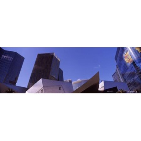 Low angle view of skyscrapers in a city Citycenter The Strip Las Vegas Nevada USA Canvas Art - Panoramic Images (36 x 12)