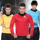Mens Star Trek Startrek Spock Scotty Captain Kirk Fancy Dress Costume T-Shirt