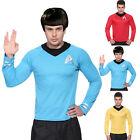 Mens Star Trek T-Shirt Top Blouse Captain Scotty Kirk Spock Sci Fi Fancy Dress