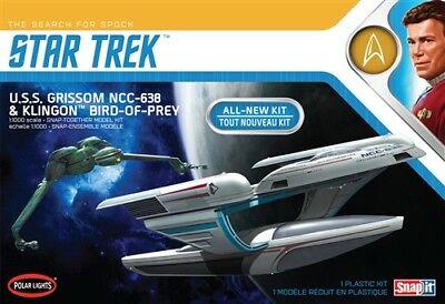 Polar Lights Star Trek USS Grissom Klingon BoP 2-pack Snap 1:1000 model kit 957
