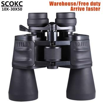 SCOKC10-30X50 power zoom glass Binoculars professional telescope for hunting high quality monocular telescope binoculars