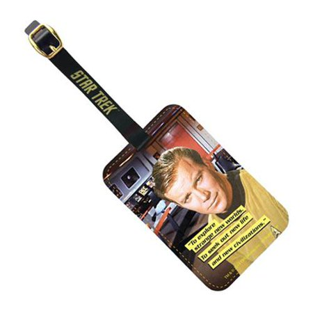Star Trek Captain Kirk Graphic Luggage Tag