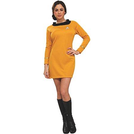 Star Trek Classic Deluxe Dress Adult Halloween Costume, Gold