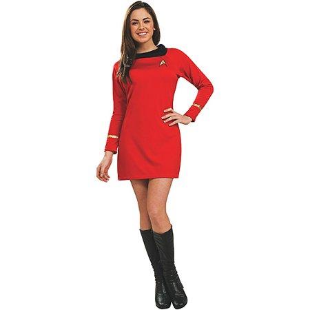 Star Trek Classic Deluxe Dress Adult Halloween Costume, Red