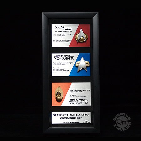 Star Trek Communications Badge Replica Artisan Edition Framed Set Of 3