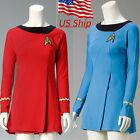 Star Trek Female Duty Costume TOS Blue Uniform TOS Red Dress Cosplay Costume
