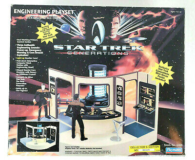 Star Trek Generations Engineering Playset Collector's Edition Playmates COMPLETE