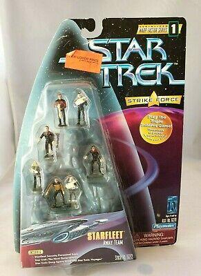 Star Trek Strike Force Starfleet Away Team Miniatures NIP Playmates 1997