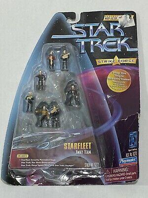 Star Trek Strike Force Starfleet Away Team Miniatures Playmates New Condition