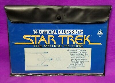 Star Trek The Motion Picture Set of 14 Official Blueprints by David Kimble Nr Mt