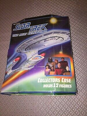 Star Trek The Next Generation 10 Figures Carry Case & Accessories Lot