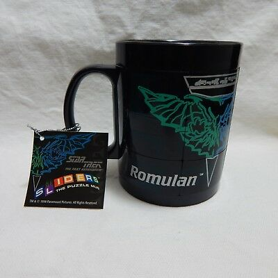 STAR TREK THE NEXT GENERATION SLIDERS THE PUZZLE MUG ROMULAN 1998