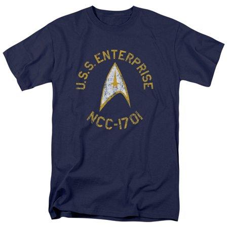 Star Trek The Original Sci-Fi TV Series Retro U.S.S Enterprise Adult T-Shirt