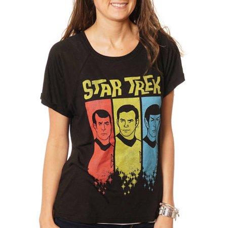 Star Trek Women's Hi-Lo Graphic T-Shirt