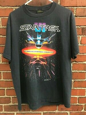 Vintage 1991 Star Trek VI The Undiscovered Country Graphic T-Shirt Size XL
