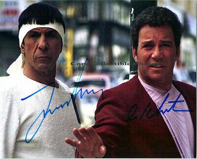 William Shatner Leonard Nimoy signed 8x10 Photo autographed Reprint