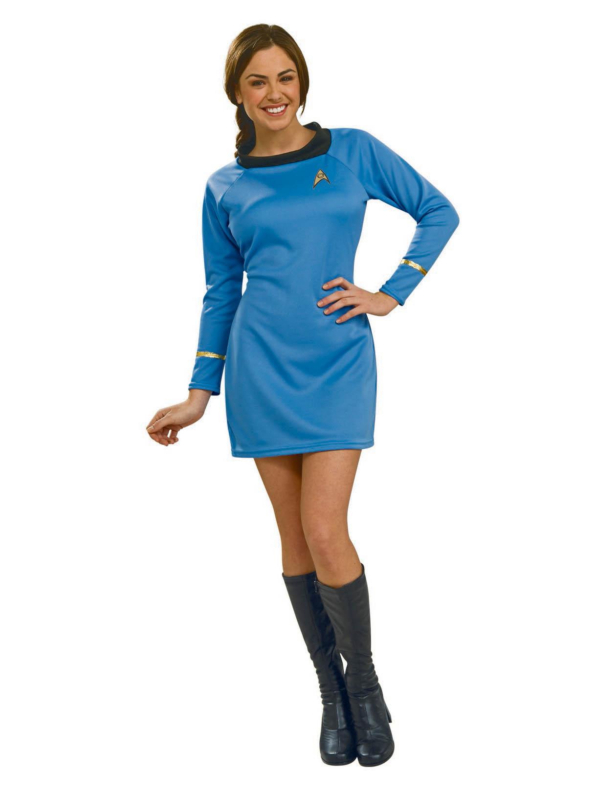 Women's Star Trek Classic Blue Dress Costume