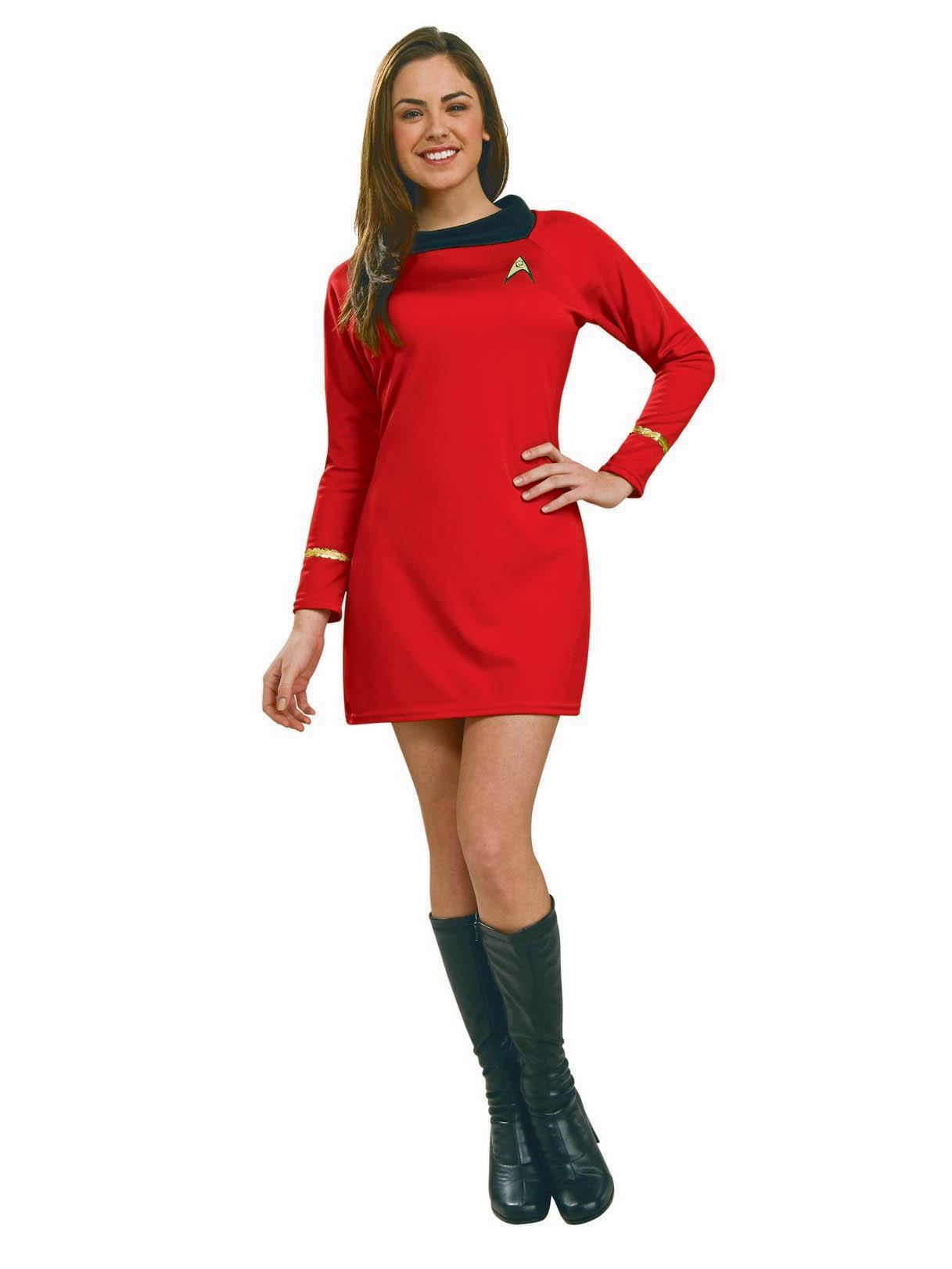 Women's Star Trek Classic Red Dress Costume