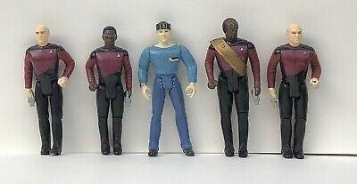 5 Vintage Star Trek Action Figures Lot : 4 1988 & 1 1999