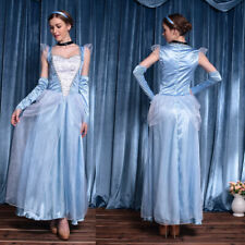 Adult Princess Cinderella Costume Fancy Dress Deluxe Halloween Cosplay Women US
