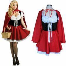 Adult Women Halloween Little Red Riding Hood Costume Fairytale Fancy Dress US