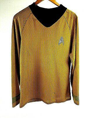 Men's Med Captain James T. Kirk Star Trek Costume Shirt Halloween Cosplay