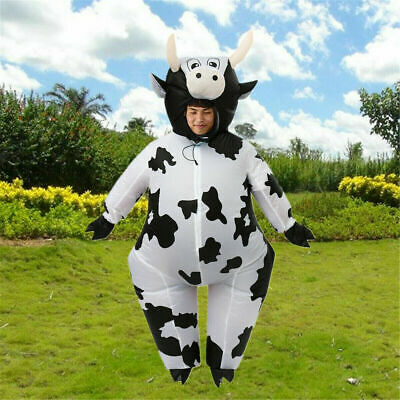 Milk Cow Costume Inflatable Fancy Dress Outfits Halloween happy Party Christmas