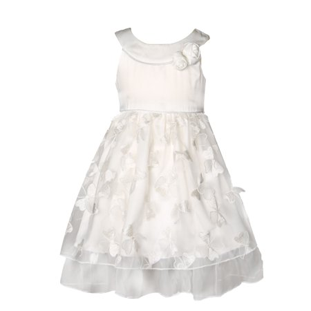 Richie House Little Girls White Fancy Embroidery Layered Dress 4