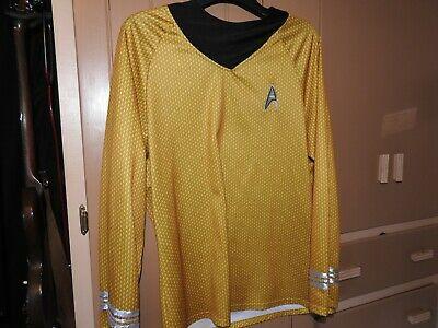 Rubies Star Trek Captain Kirk Deluxe Shirt Costume Gold Adult Men's Large