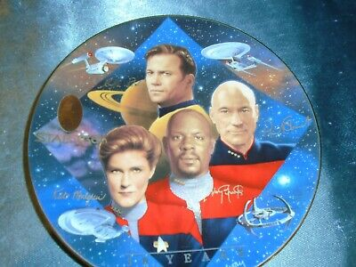Star Trek: 30 years Captain's Tribute Hamilton Collection Plate Ltd Ed w/COA
