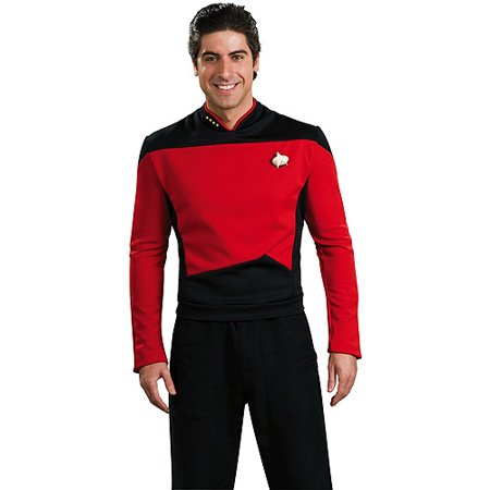 Star Trek Adult Deluxe Red Shirt Halloween Costume