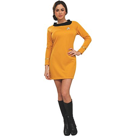 Star Trek Classic Deluxe Dress Adult Halloween Costume, Gold