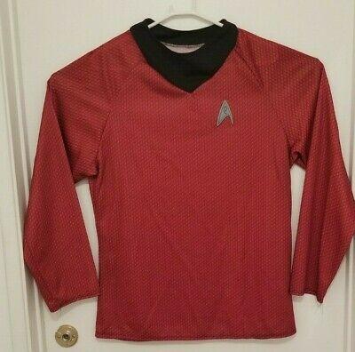 Star Trek Deluxe Mens Large Long Sleeve Shirt Scotty Red Rubies Costume Shirt