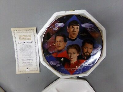 Star Trek Hamilton Collection Plate Second In Command 30 Years ~ NEW W/ COA
