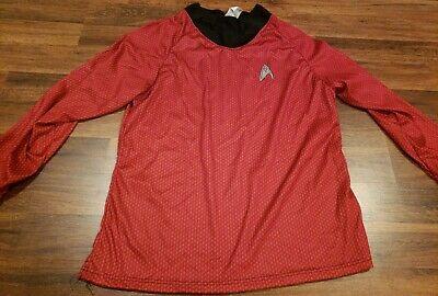 Star Trek Red Uniform Shirt Costume Mens Size XL