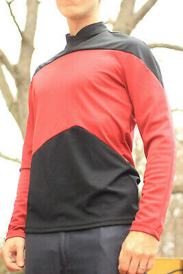Star Trek The Next Generation Red Duty Uniform Top TNG Costume